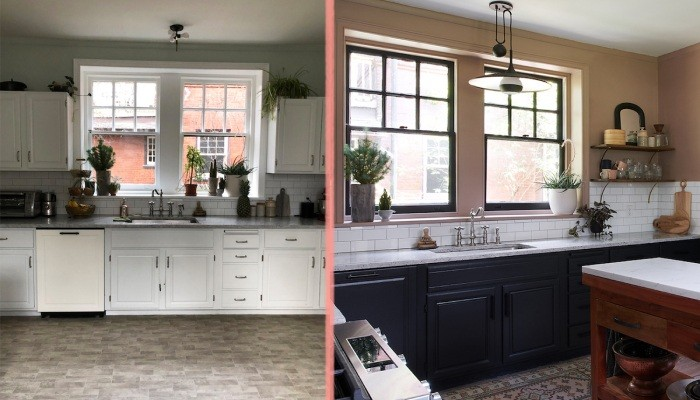 До и после добавляем кухне функциональности и красоты