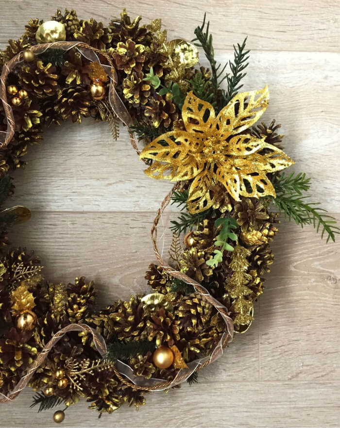 Золотой новогодний декор: 36 завораживающих идей