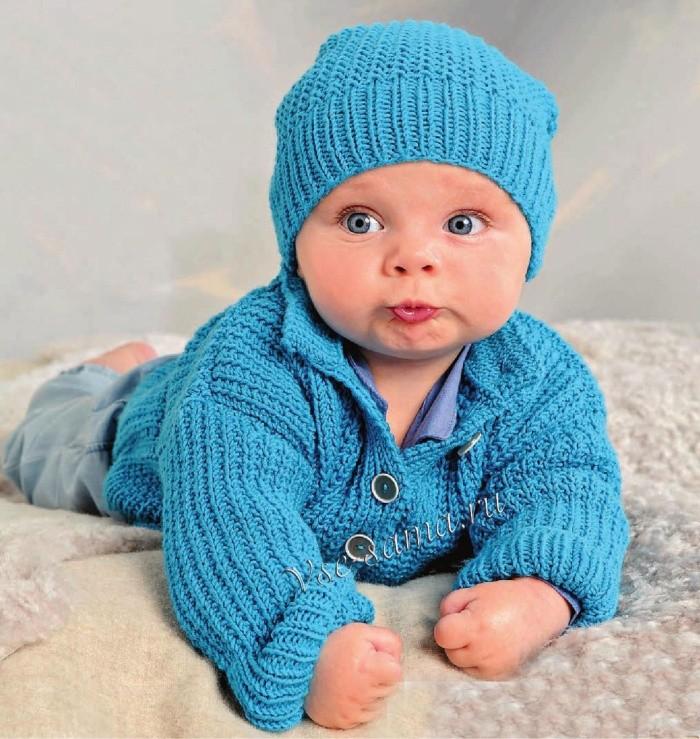 Милые вязаные шапочки для малышей: 60 фото
