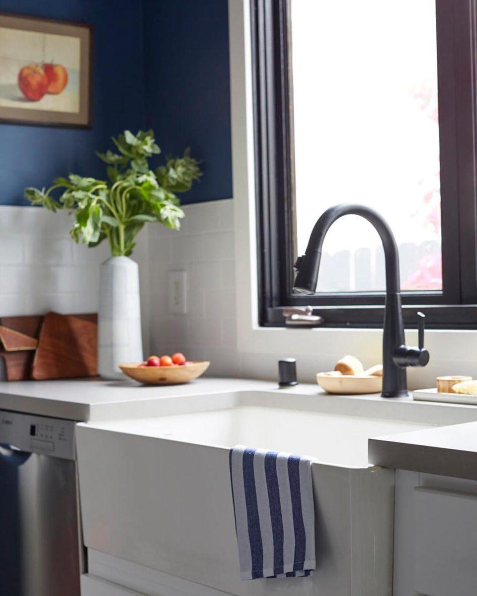 декор, кухня, голубой, простой интерьер, инстгарам, interoir, henderson, simple
