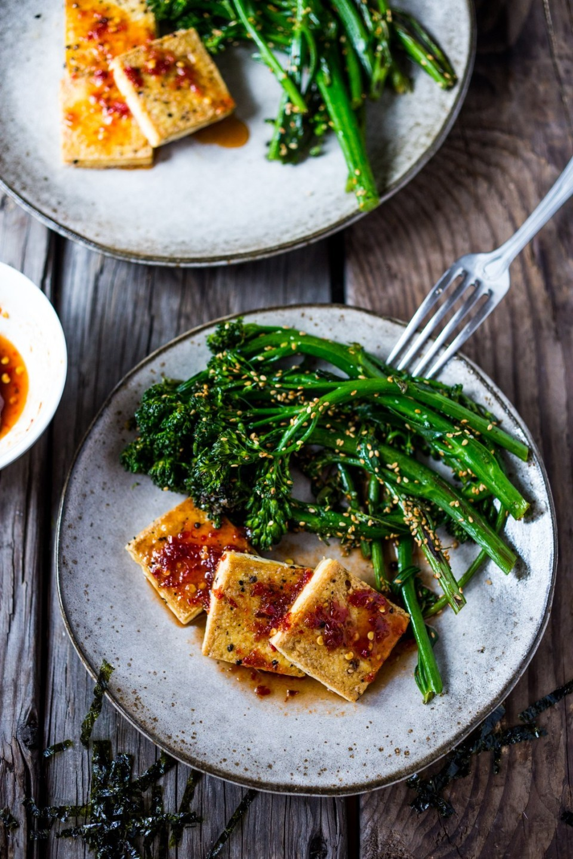 тофу в чесночном соусе