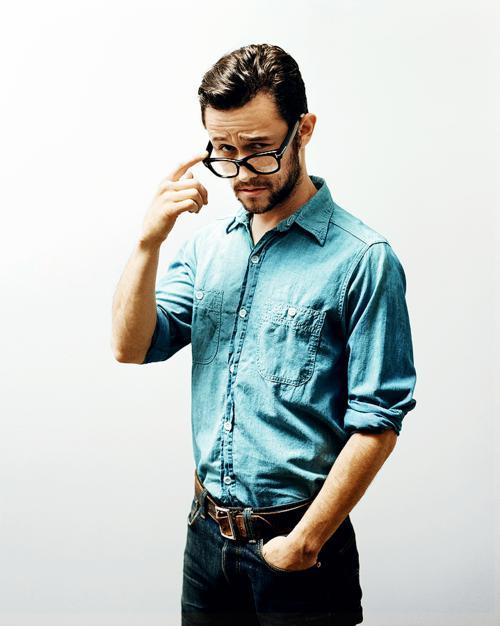 мужчина, джинсовая рубашка