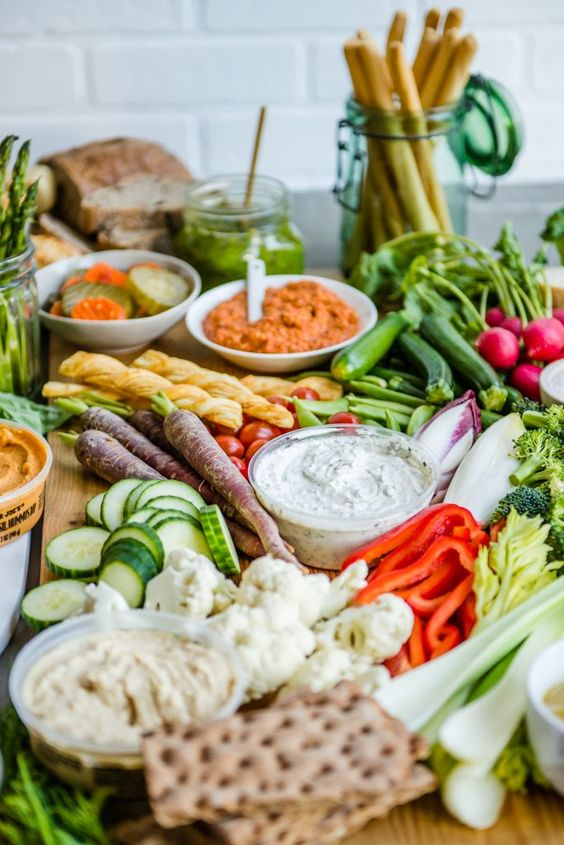 Crudité: гламурная овощная тарелка