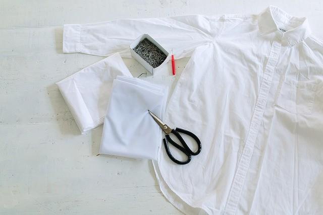 Блузка с манжетами своими руками. DIY. Шитье. Белая блузка весна-лето 2016.
