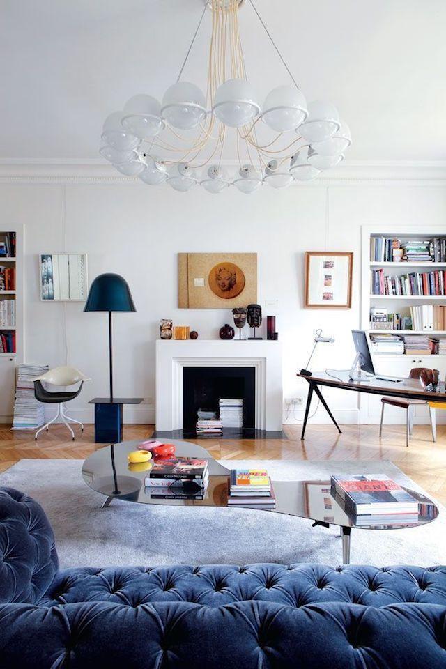 Эклектика в интерьере: одна парижская квартира