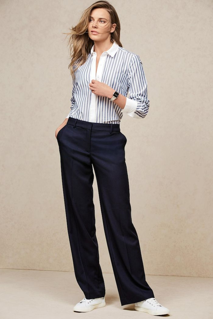 blue-stripe-shirt-and-navy-pants