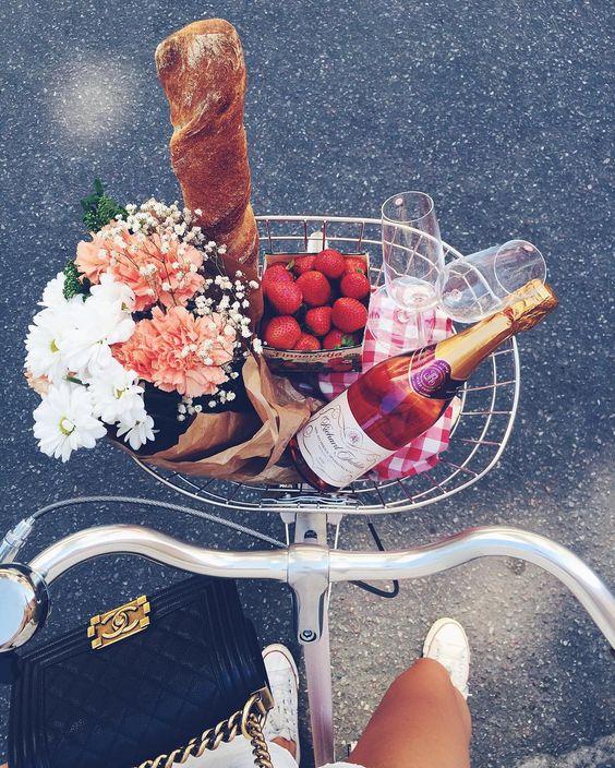 парижский пикник, велосипед