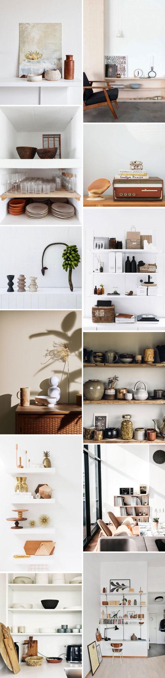 shelf styling inspiration. / sfgirlbybay