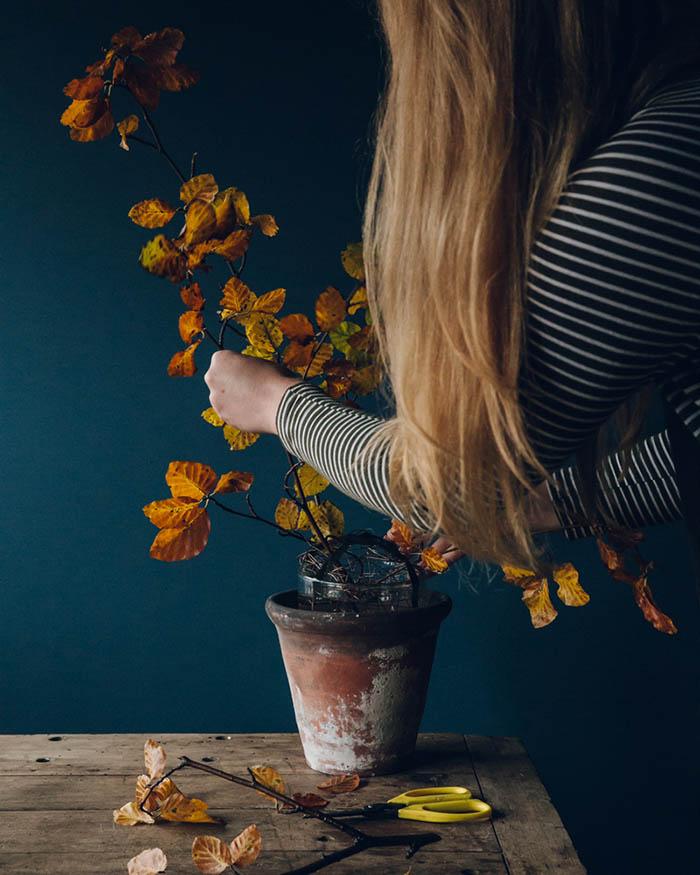 Зимние букеты: схема создания цветочной композиции, основа.