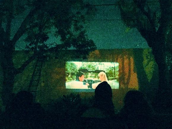Дачный кинотеатр под открытым небом. Идеи для дачи.