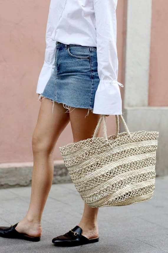 Лето 2017: сумки-корзинки в городском гардеробе