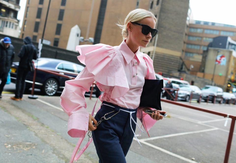 street style, statement sleeves, блузка с рукавами стэйтмент