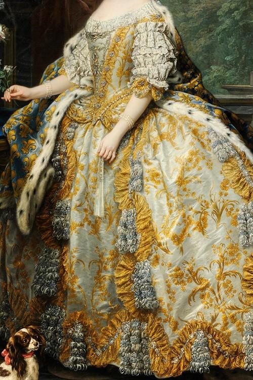 Marie Leszczynska, Queen of France by Jean Baptiste Van Loo, c. 1748