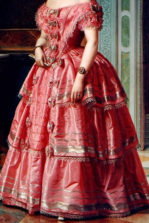 Portrait of a Lady by Ángel María Cortellini, 1855