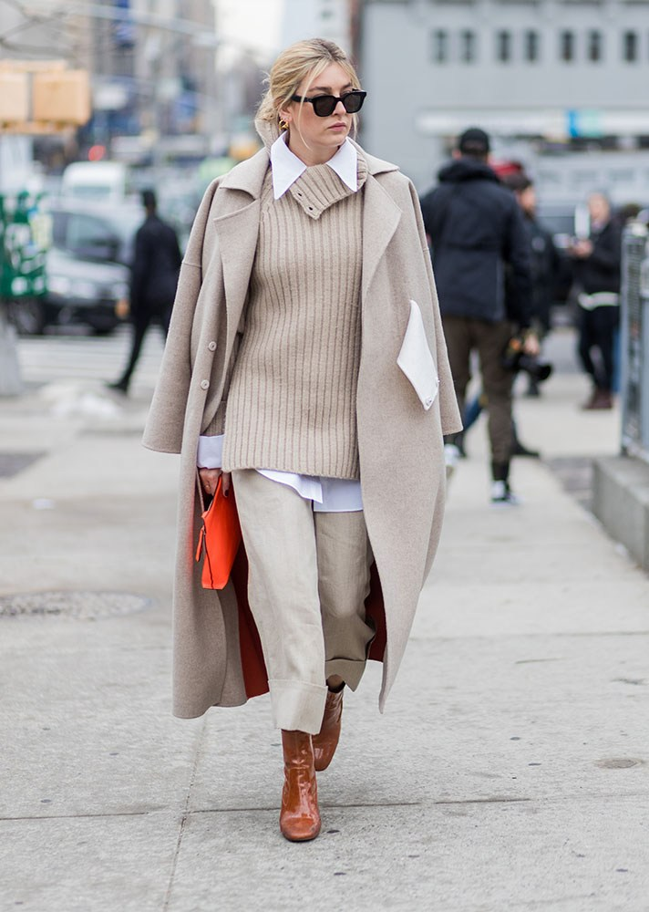 camel coat, red bag, new york street style, spring-summer 2017