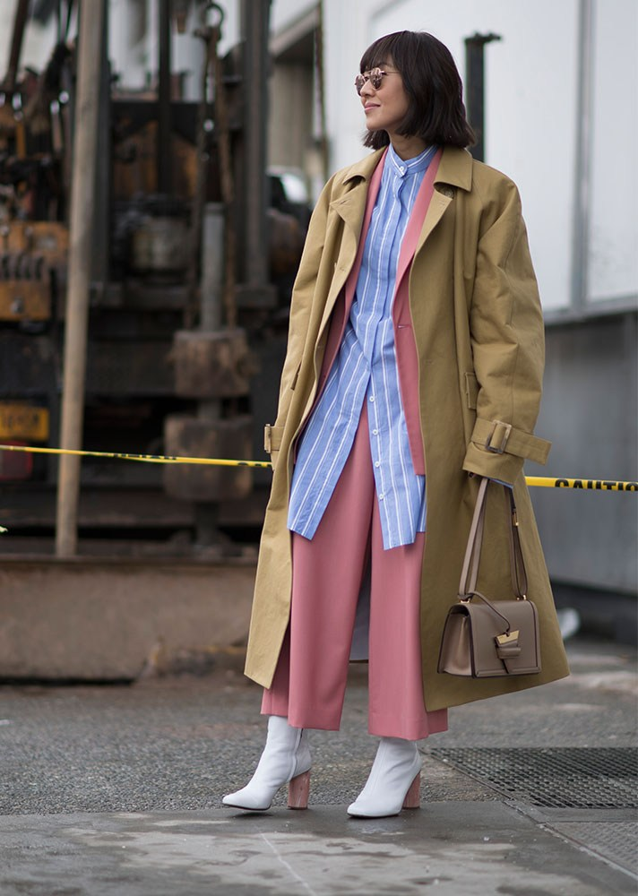 trench coat, new york street style, spring-summer 2017