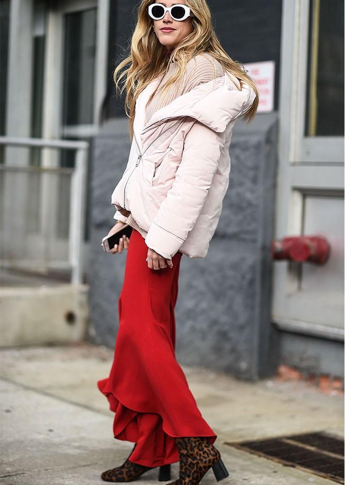 Puffer coat, new york street style, spring-summer 2017