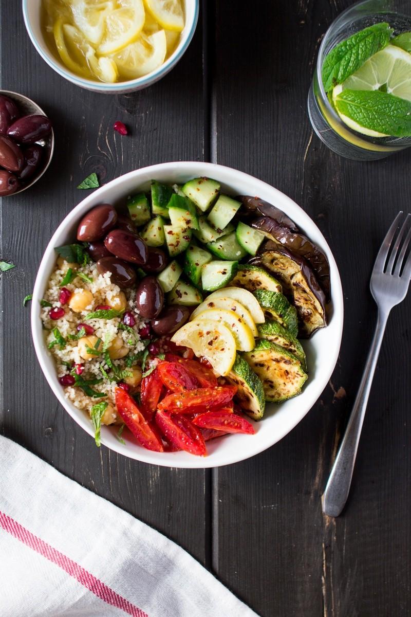 марокканский салат, вегетарианское блюдо
