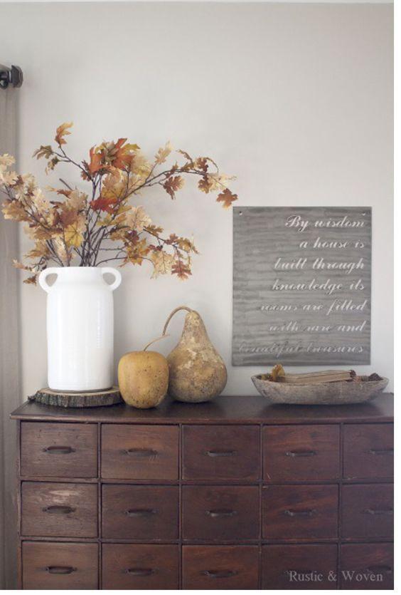 viniette, осенний декор интерьера, композиция, украшение дома