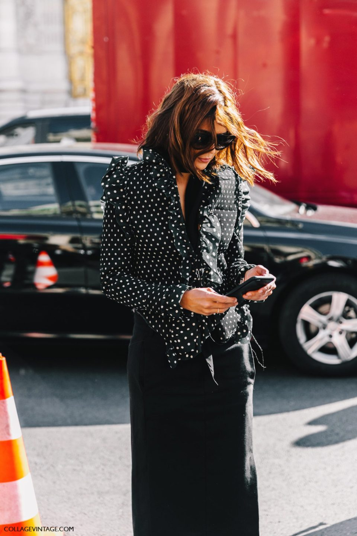 polka dot outfit, блузка в горошек, парижский стиль