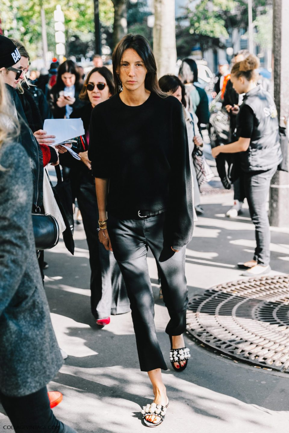 all black outfit, parisian chic