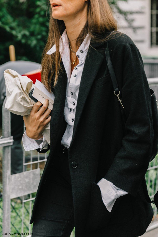 black jacket, parisian chic