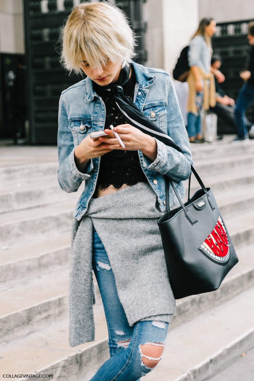 denim jacket outfit, джинсовка, парижский стиль