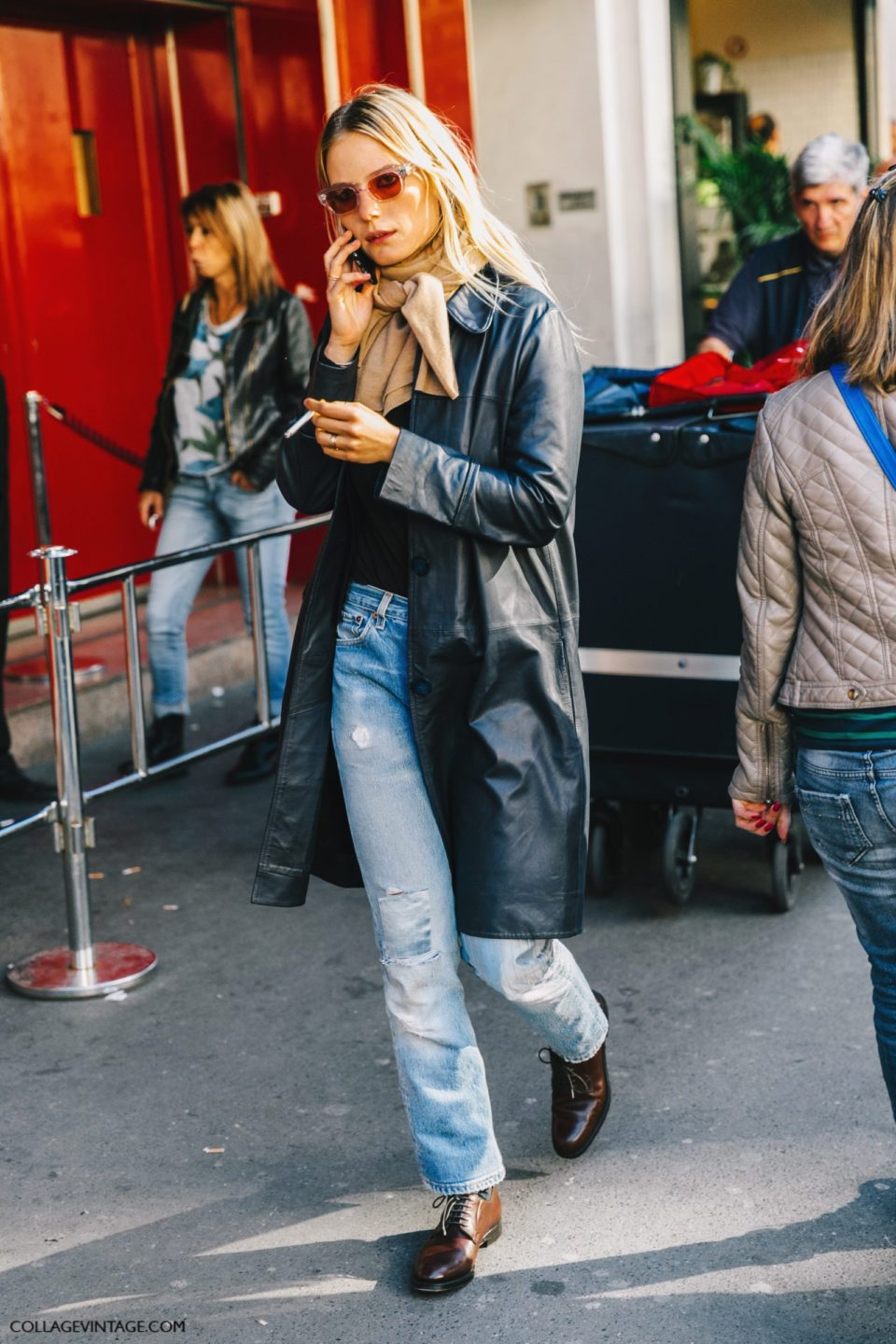 leather coat outfit, rj;fysq gkfo