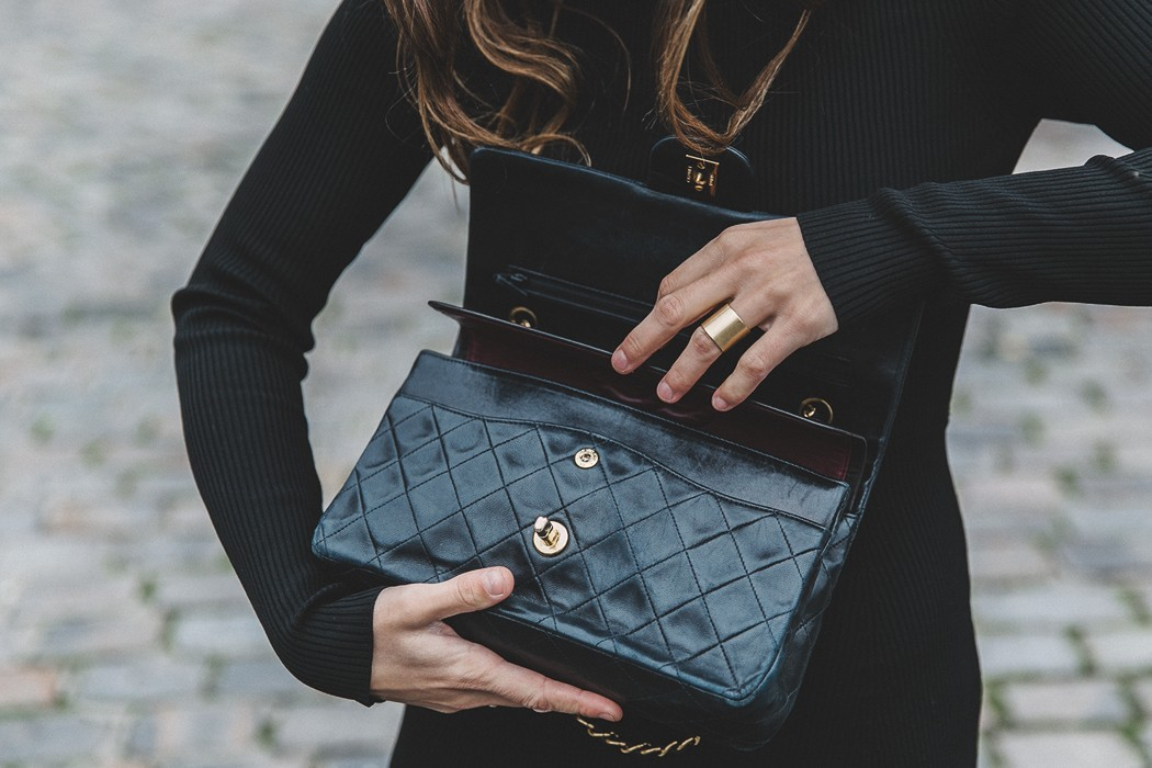 Черное платье Chanel