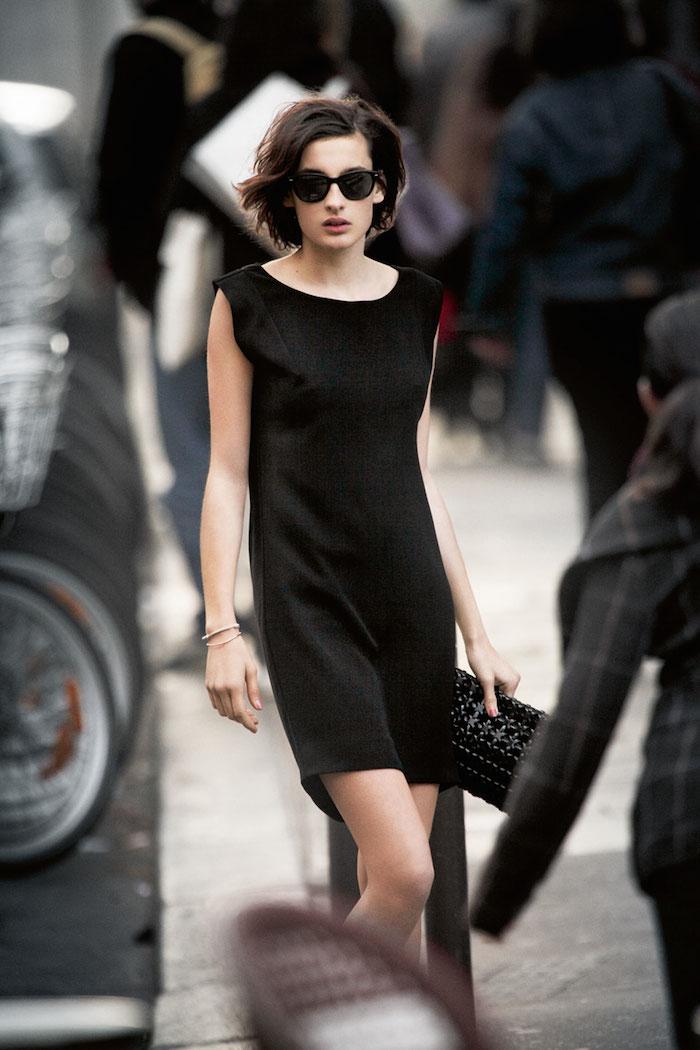 Парижский шик, Нина де ла Фрессанж, parisian chic, Nina de la Fressange, little black dress, маленькое черное платье