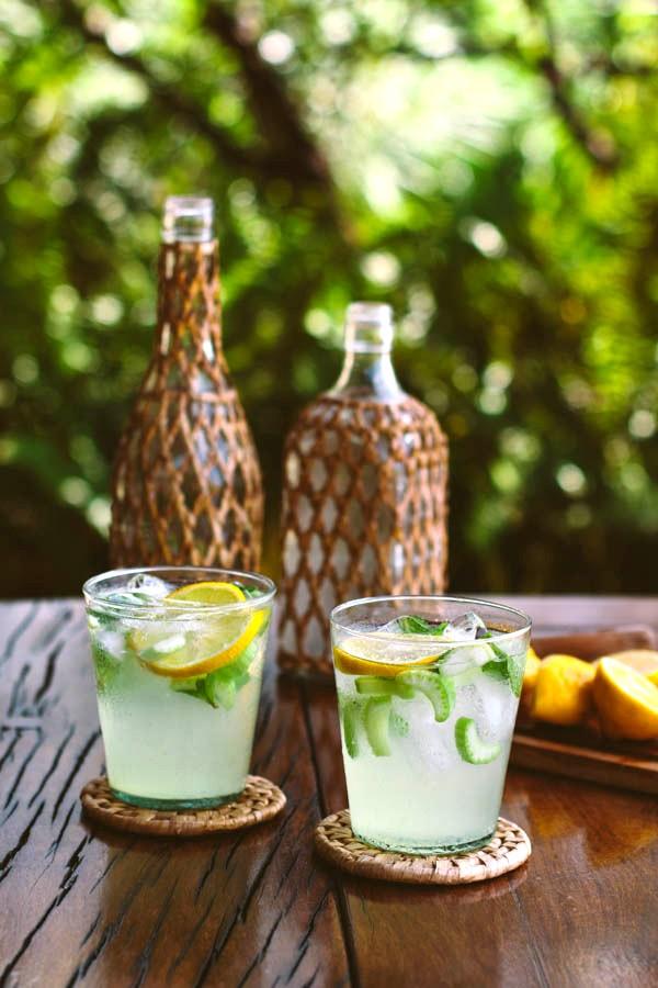 Летние коктейли: быстрый свежий аперитив с джином, лимонами и сельдереем.