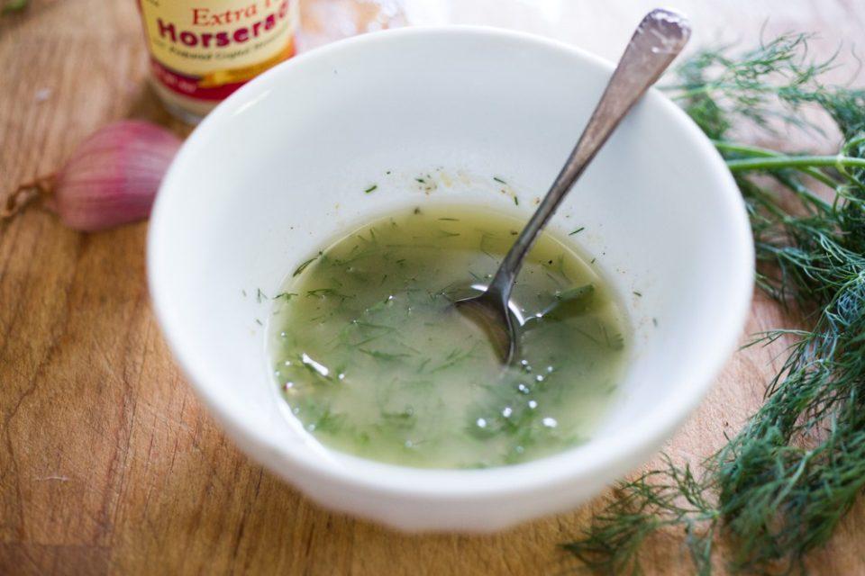 салатная заправка, заправка для салата, cscandinavian salad by Feasting at home