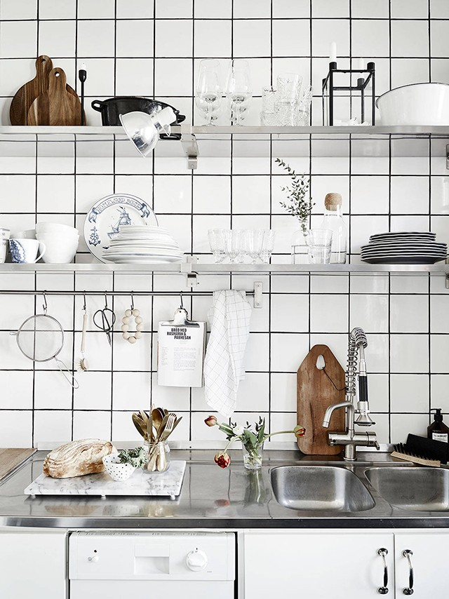 Скандинавский интерьер. Декор кухни.