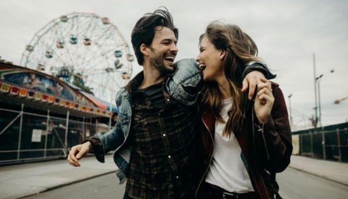 Красивая пара, счастливые отношения