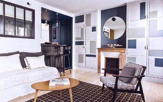 маленькая квартира в Париже, декор интерьера, small appartment in Paris