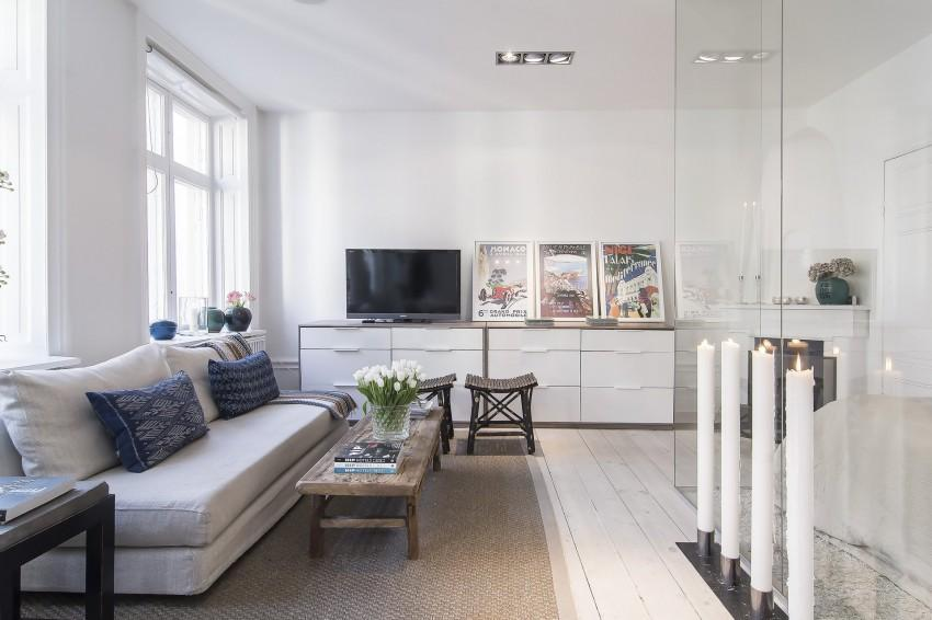 Small-Flat-in-Stockholm-Living-room