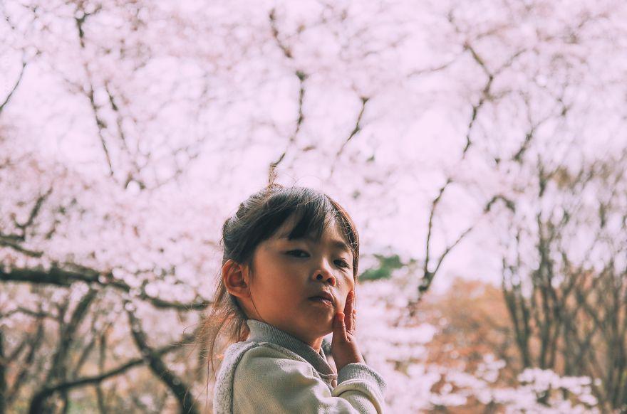 Цветущая сакура. Blossoming sakura. woman-delice.com. japanees girl